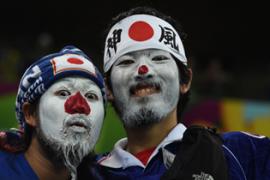Tingkah Unik Fans Jepang di Piala Dunia 2014